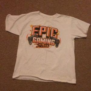 White T-shirt Text; Epic gaming skills